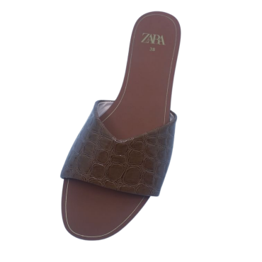 z0115-5 brown, gold slippers