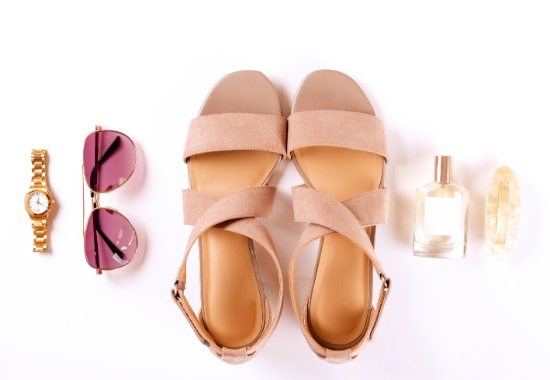 Choosing the right sandals.